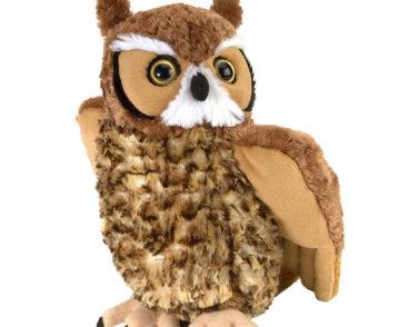 CUDDLEKINS GREAT HORNED OWL 30CM-0