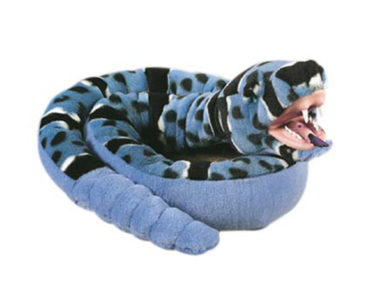 "SNAKE WITH VINYL MOUTH BLUE ROCK 54""1(37CM)-0"