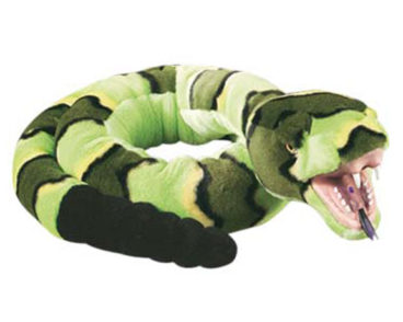 """SNAKE WITH VINYL MOUTH GREEN ROCK 54""""(137CM)-0"""
