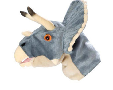 NHM PUPPET TRICERATOPS 32CM -0