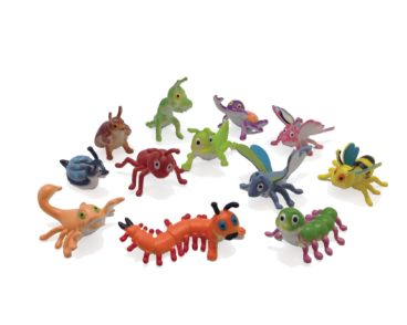 BULK JUNIOR JUNGLE INSECT 12 PIECES 6CM EACH-0
