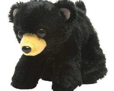 HUG'EMS PLUSH SOFT TOY BLACK BEAR CUDDLY TOY 18CM-0