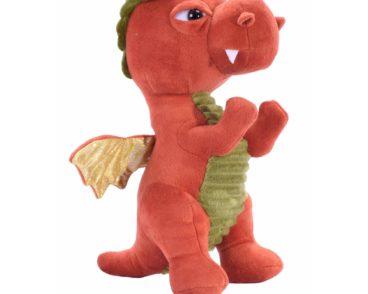 V&V Dragon Rust soft plush toy 27cm-0