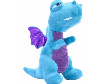 V&V Dragon Teal soft plush toy 27cm-0