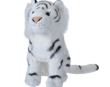 TRADITIONAL LARGE WHITE TIGER SITTING 38CM-0