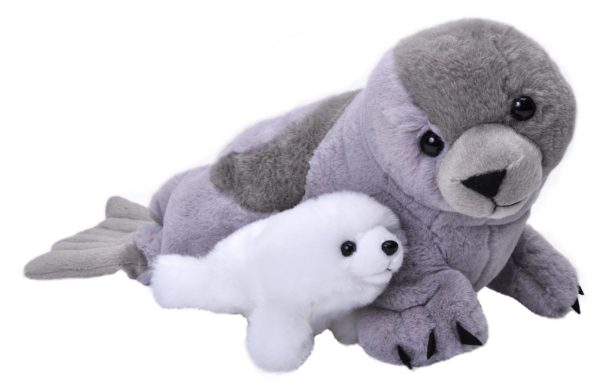 MOM & BABY HARP SEAL 38CM-0