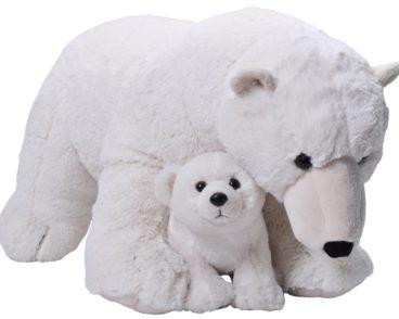 JUMBO MOM & BABY POLAR BEAR 76CM-0