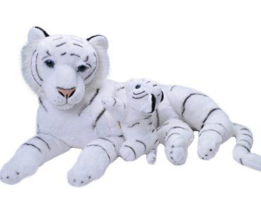 JUMBO MOM & BABY WHITE TIGER 76CM-0