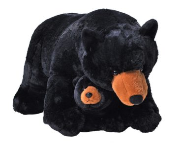 JUMBO MOM & BABY BLACK BEAR 76CM-0
