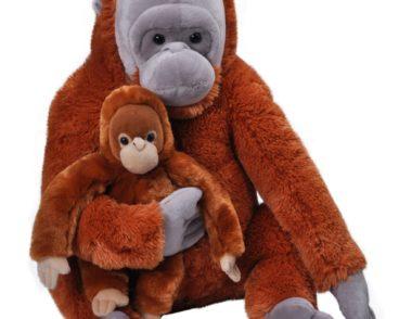 JUMBO MOM & BABY ORANGUTAN 76CM-0